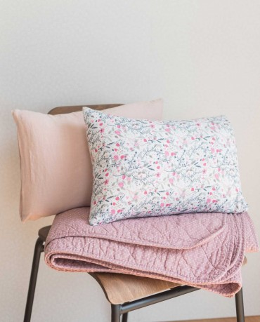 Plaid edredón rosa lunares 130x180