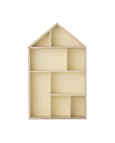 Estante casita de madera deco living for Casita de plastico para jardin