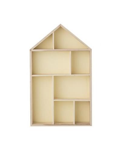 Estante casita de madera deco living - Estanterias de pared infantiles ...