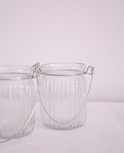 Portavelas de cristal con asa deco living - Portavelas cristal ...