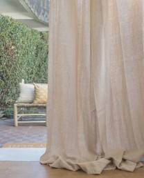 Novedades deco living - Cortinas lino beige ...