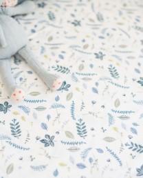 Conjunto cama hojas azules