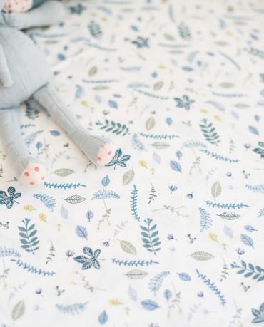 Funda nórdica cama hojas azules