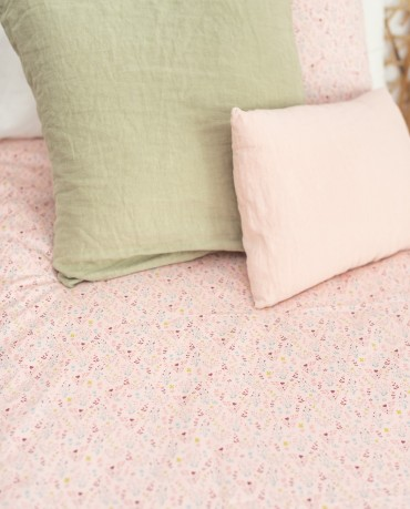 Funda nórdica cama flores rosas