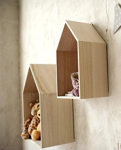 Estanter as de casitas deco living - Casitas pequenas de madera ...