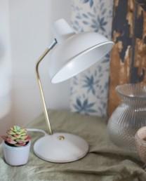 Lámpara mesa blanca