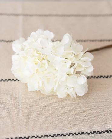 Hortensia blanca artificial