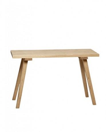 Banco de madera natural deco living - Bancos de madera para banos ...