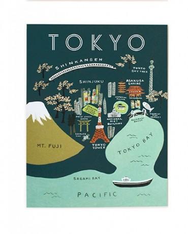 Tarjeta Tokyo 10x14cm