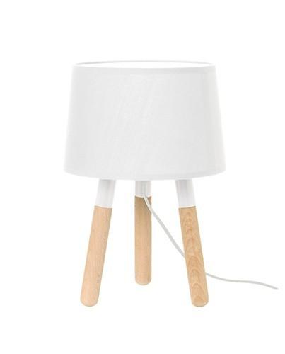 lmpara mesa tres patas lmpara blanca con llave dorada - Lamparas Mesita Noche