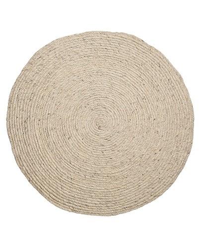 alfombra redonda beige deco living