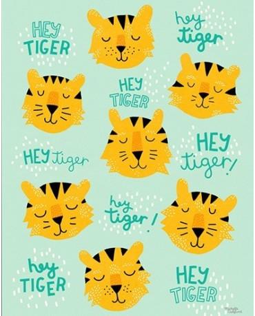 Lámina Hey Tiger 30x40
