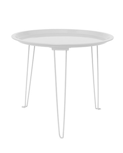 mesa auxiliar blanca deco living