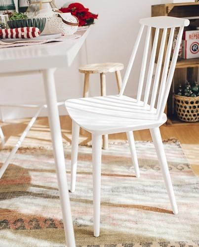 silla nordica blanca deco living