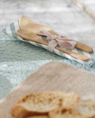 Cuchillos de untar bambú (set.12 ud)