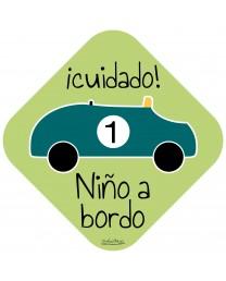 Pegatina coche Niño a Bordo
