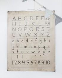 Cartel caligrafía