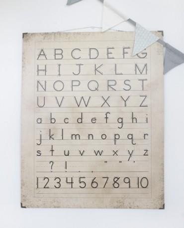 Cartel caligrafía vintage