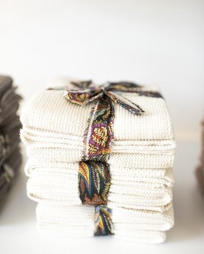 Artesanato Pernambuco ~ set mini toallas crema Deco& Li