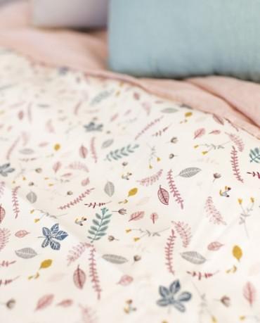 Funda nórdica cama hojas