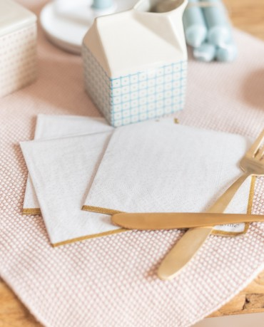 Servilletas papel nude gold