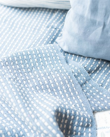 Manta azul 160x130