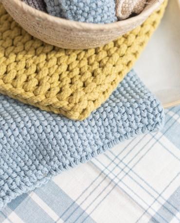 Mini toalla azul escandinavo