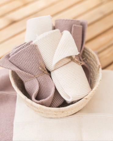 Mini toalla blanca