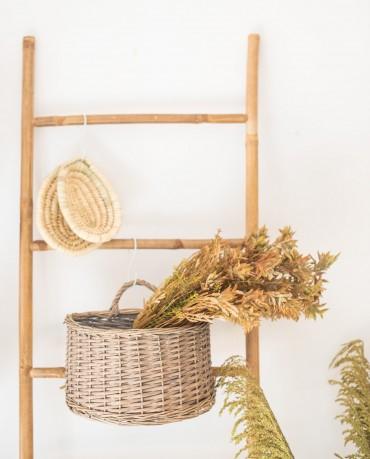 Planta hojas marrones artificial