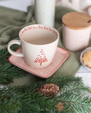 Taza de Navidad Árbol rojo