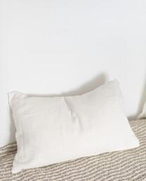 Cojín lino blanco roto 40x60