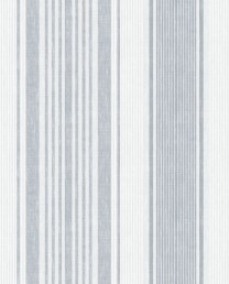 Papel pintado Linen Stripe Azul