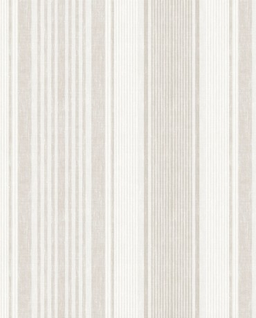 Papel pintado Linen Stripe Beige