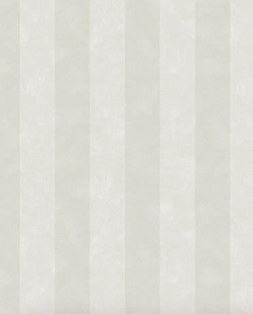 Papel pintado Chalk Stripe Gris Beige