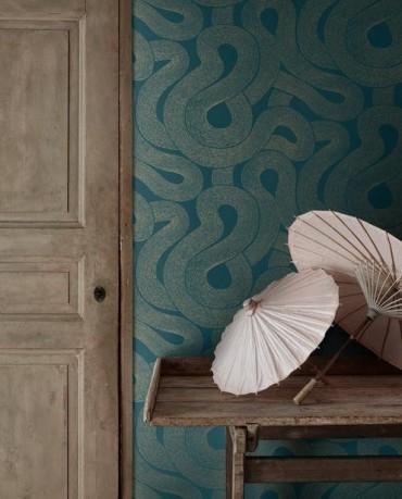 Papel pintado Zen Azul