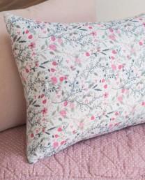 Funda cojín floral pink