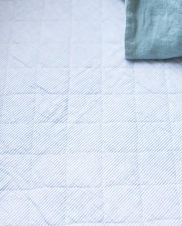 Plaid edredón rayas azul 130x180
