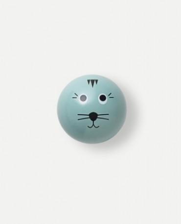 Perchero gato azul