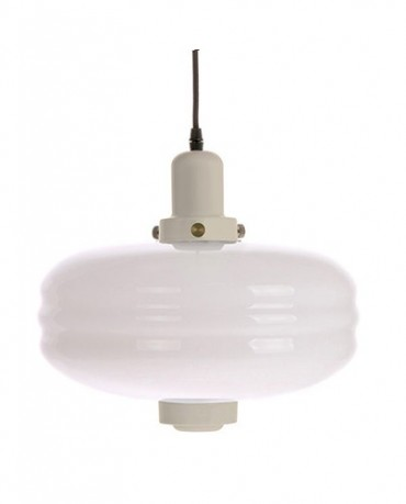 Lámpara vidrio blanca L