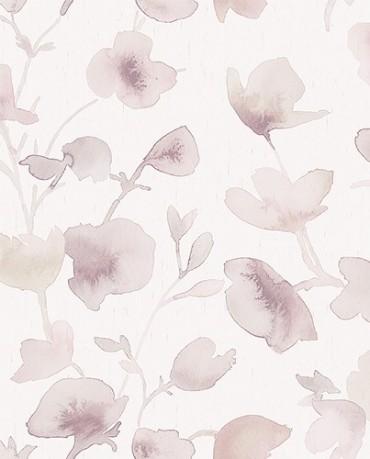Papel Pintado Flor Acuarela 1