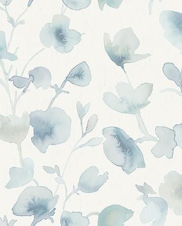 Papel Pintado Flor Acuarela 3