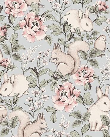 Papel Pintado Conejos 1