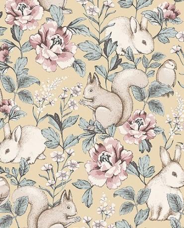 Papel Pintado Conejos 2