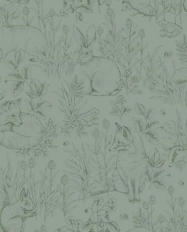Papel Pintado Animales del Bosque 1