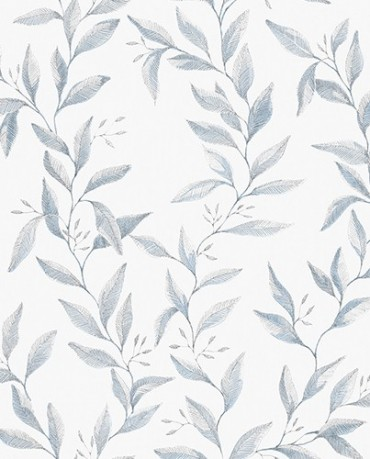 Papel Pintado hojas acuarela 2