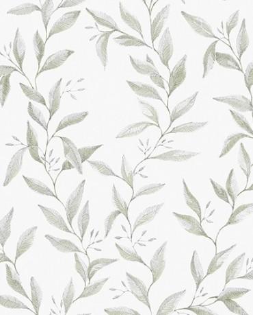 Papel Pintado hojas acuarela 3