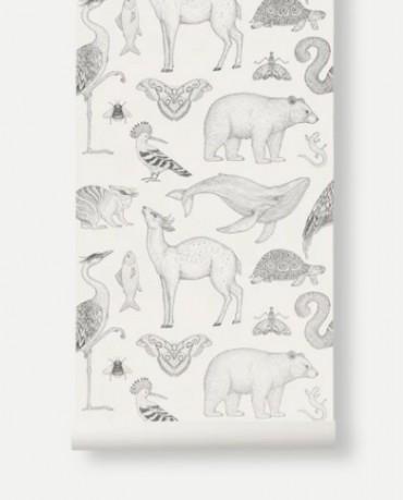 Papel Pintado Animales Blanco