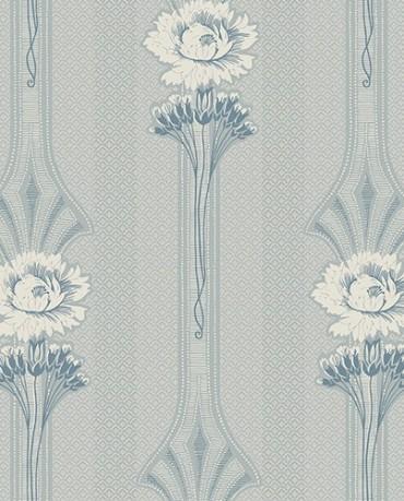 Papel pintado Marga azul