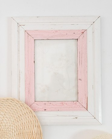 Marco Africa XXL blanco y rosa