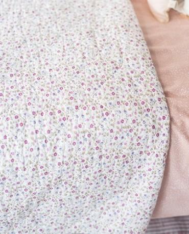 Plaid edredón flores mini lilas 130x180